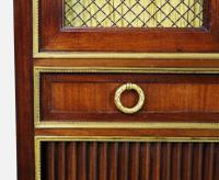Slender Marble Topped French Mahogany Cabinet c.1890 (10 of 14)