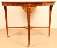 Inlaid Mahogany Octagonal Centre Table c.1901 (10 of 11)