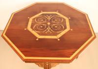 Inlaid Mahogany Octagonal Centre Table c.1901 (7 of 11)