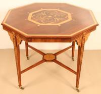 Inlaid Mahogany Octagonal Centre Table c.1901 (11 of 11)