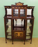 Inlaid Mahogany Art Nouveau Display Cabinet (4 of 15)