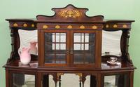 Inlaid Mahogany Art Nouveau Display Cabinet (5 of 15)