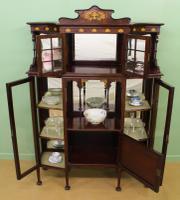 Inlaid Mahogany Art Nouveau Display Cabinet (8 of 15)