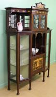 Inlaid Mahogany Art Nouveau Display Cabinet (11 of 15)