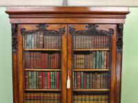 Large Victorian Mahogany Cylinder Bureau Bookcase (5 of 21)