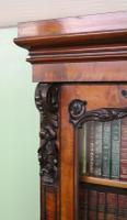 Large Victorian Mahogany Cylinder Bureau Bookcase (6 of 21)