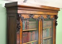 Large Victorian Mahogany Cylinder Bureau Bookcase (9 of 21)