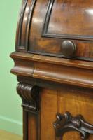 Large Victorian Mahogany Cylinder Bureau Bookcase (12 of 21)