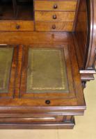 Large Victorian Mahogany Cylinder Bureau Bookcase (19 of 21)