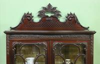 Maple & Co Carved Mahogany Display Cabinet (3 of 13)