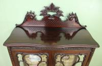 Maple & Co Carved Mahogany Display Cabinet (8 of 13)