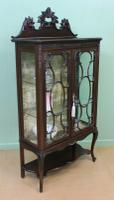 Maple & Co Carved Mahogany Display Cabinet (10 of 13)