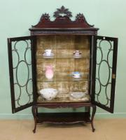 Maple & Co Carved Mahogany Display Cabinet (12 of 13)