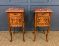 Pair of French Walnut Bedside Cupboards (2 of 12)