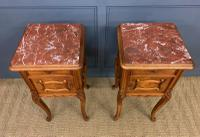 Pair of French Walnut Bedside Cupboards (3 of 12)