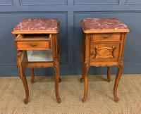 Pair of French Walnut Bedside Cupboards (4 of 12)