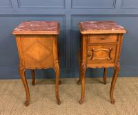 Pair of French Walnut Bedside Cupboards (5 of 12)
