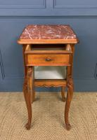 Pair of French Walnut Bedside Cupboards (8 of 12)