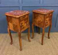 Pair of French Walnut Bedside Cupboards (12 of 12)