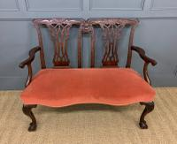 Chippendale Design Mahogany Settee Bench c.1900 (3 of 12)