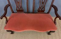 Chippendale Design Mahogany Settee Bench c.1900 (6 of 12)