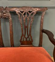 Chippendale Design Mahogany Settee Bench c.1900 (2 of 12)