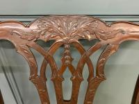 Chippendale Design Mahogany Settee Bench c.1900 (8 of 12)