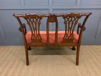Chippendale Design Mahogany Settee Bench c.1900 (12 of 12)