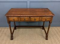 Two Drawer Oak Side Table c.1910 (2 of 10)