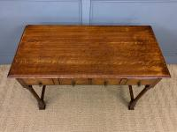 Two Drawer Oak Side Table c.1910 (3 of 10)