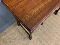 Two Drawer Oak Side Table c.1910 (4 of 10)