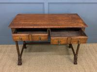 Two Drawer Oak Side Table c.1910 (7 of 10)