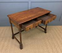 Two Drawer Oak Side Table c.1910 (8 of 10)