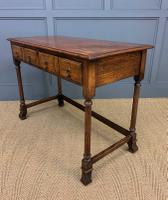 Two Drawer Oak Side Table c.1910 (9 of 10)