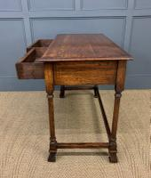 Two Drawer Oak Side Table c.1910 (10 of 10)