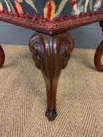 Victorian Walnut Cabriole Legged Stool (6 of 7)