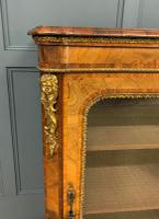 Victorian Inlaid Burr Walnut Pier Cabinet (2 of 16)