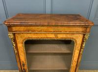 Victorian Inlaid Burr Walnut Pier Cabinet (4 of 16)