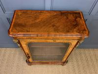 Victorian Inlaid Burr Walnut Pier Cabinet (5 of 16)