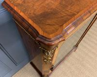 Victorian Inlaid Burr Walnut Pier Cabinet (6 of 16)