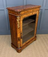 Victorian Inlaid Burr Walnut Pier Cabinet (8 of 16)