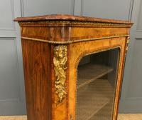 Victorian Inlaid Burr Walnut Pier Cabinet (10 of 16)
