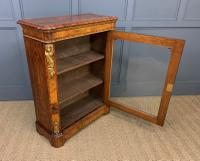 Victorian Inlaid Burr Walnut Pier Cabinet (11 of 16)