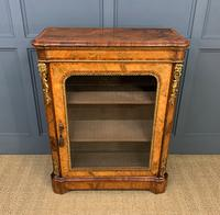 Victorian Inlaid Burr Walnut Pier Cabinet (16 of 16)