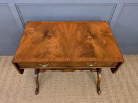Burr Walnut Sofa Table c.1900 (3 of 15)