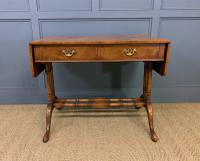 Burr Walnut Sofa Table c.1900 (4 of 15)