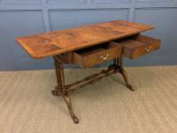 Burr Walnut Sofa Table c.1900 (12 of 15)