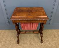 Victorian Inlaid Burr Walnut Work Table (13 of 14)
