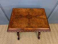 Victorian Inlaid Burr Walnut Work Table (12 of 14)