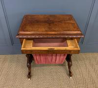 Victorian Inlaid Burr Walnut Work Table (14 of 14)
